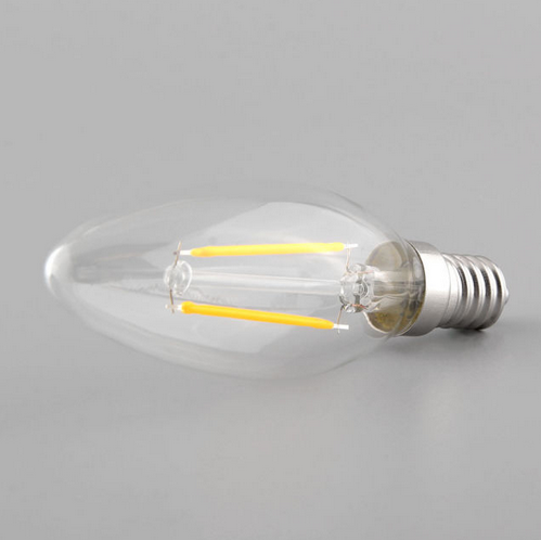 2W E14 E12 LED Filament Bulb Retro LED Candle Light AC 110V 220V
