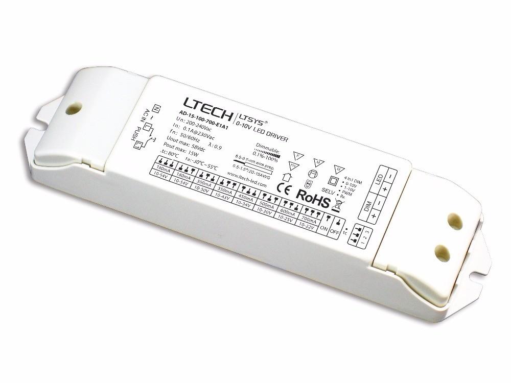 LETCH 15W AD-15-100-700-E1A1 CV 0/1-10V Dimming Driver