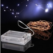 2m 20LEDs Copper Wire LED Lights Battery 7ft Thin String Wire