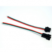 3 Pin Male Female Cable Wire Connector for WS2811 WS2812B LED Strip