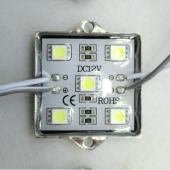 5050 SMD 5 LEDs Waterproof Module Tetragonal Shell Module DC12V