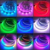 5V WS2812B Programmable LED Strip 144 LEDs RGB Addressable Light