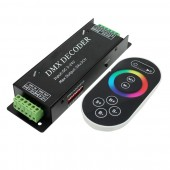 DMX100 3 Channel Strip DMX Decoder 5-24V Common Anode + Touch Remote Control