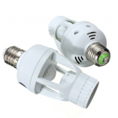 E27 Infrared PIR Motion Sensor Bulb Lamp Switch Holder Converter